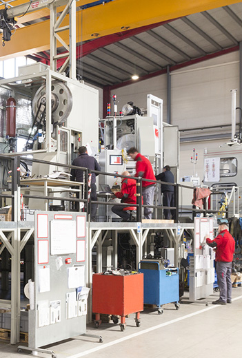 AMES CMA develops, builds and validates inhouse a very large part of the machinery and the automation systems