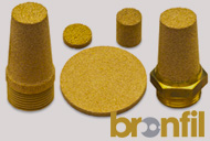 metallic porous bronze filter