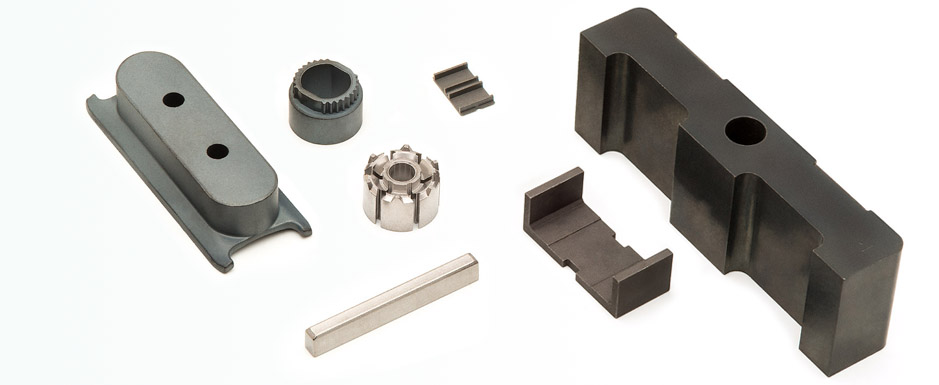 Sintered soft magnetic components for electrical machines