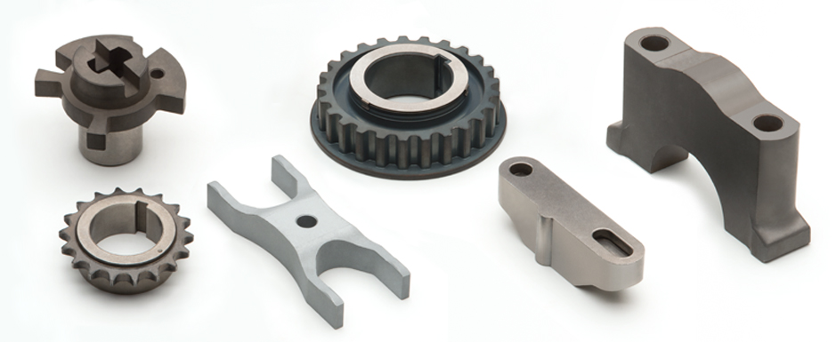 sintered parts for engines (sprockets, pulleys, clamps, bearing caps, sensors, couplings)