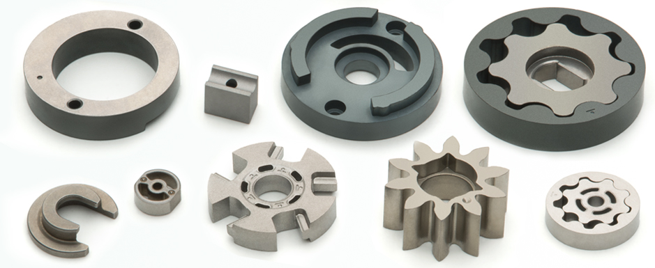 Sintered structural components for fuel pumps